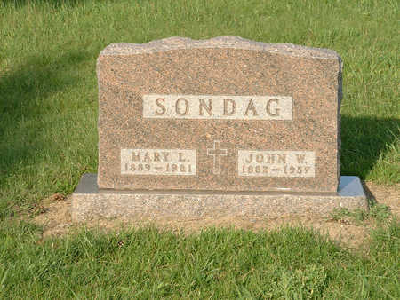 SONDAG, MARY L - Harrison County, Iowa | MARY L SONDAG