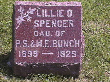 BUNCH SPENCER, LILLIE .O - Harrison County, Iowa | LILLIE .O BUNCH SPENCER