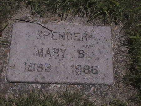 SPENCER SPENCER, MARY . B - Harrison County, Iowa | MARY . B SPENCER SPENCER