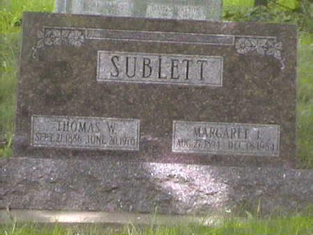 SUBLETTE, MARGARET . L - Harrison County, Iowa | MARGARET . L SUBLETTE