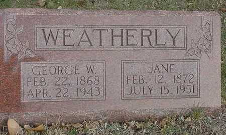 WEATHERLY, JANE