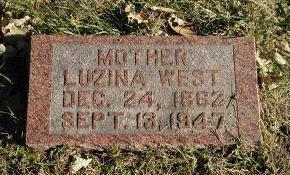 WEST, LUZINA - Harrison County, Iowa   LUZINA WEST
