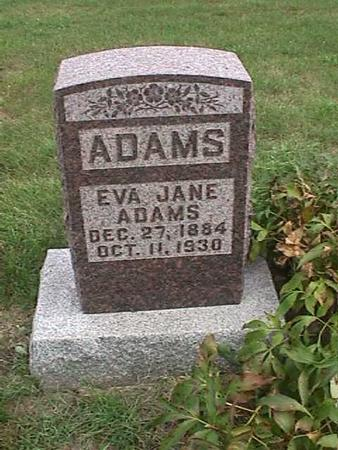 ADAMS, EVA JANE - Henry County, Iowa | EVA JANE ADAMS