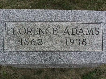ADAMS, FLORENCE - Henry County, Iowa | FLORENCE ADAMS