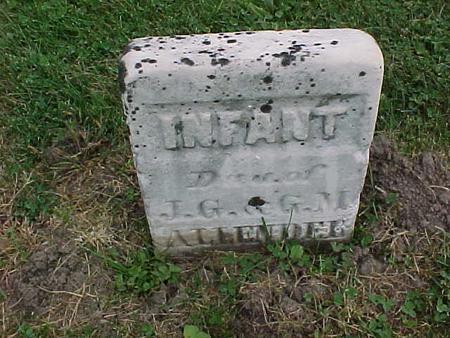 ALLENDER, INFANT - Henry County, Iowa   INFANT ALLENDER