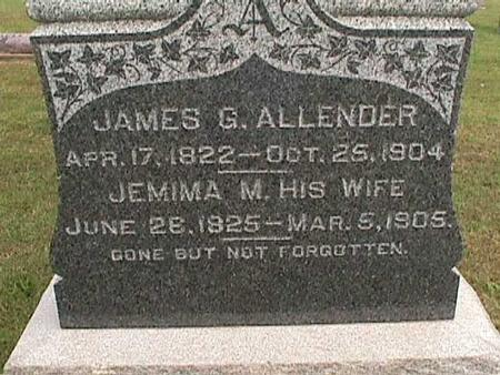 ALLENDER, JAMES - Henry County, Iowa | JAMES ALLENDER