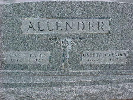 BATES ALLENDER, MINNIE - Henry County, Iowa | MINNIE BATES ALLENDER