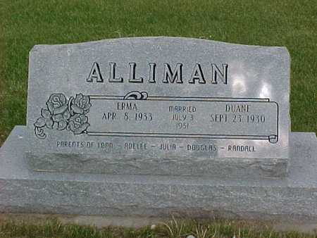 ALLIMAN, ERMA - Henry County, Iowa | ERMA ALLIMAN