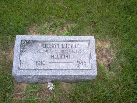 ALLIMAN, LILLIAN LUCILLE - Henry County, Iowa   LILLIAN LUCILLE ALLIMAN