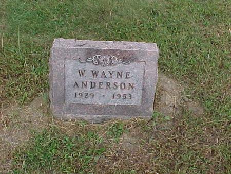ANDERSON, W. WAYNE - Henry County, Iowa | W. WAYNE ANDERSON
