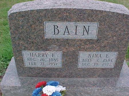 BAIN, HARRY - Henry County, Iowa | HARRY BAIN