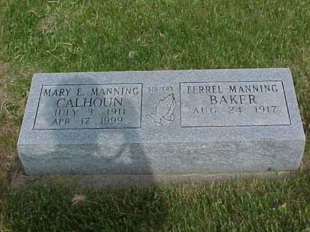 MANNING CALHOUN, MARY - Henry County, Iowa | MARY MANNING CALHOUN