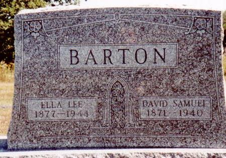 BARTON, DAVID SAMUEL & ELLA (LEE) - Henry County, Iowa | DAVID SAMUEL & ELLA (LEE) BARTON