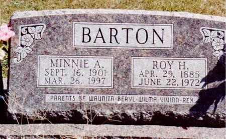 BARTON, ROY H. & MINNIE A. - Henry County, Iowa | ROY H. & MINNIE A. BARTON