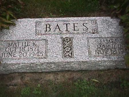 BATES, MATTIE - Henry County, Iowa | MATTIE BATES