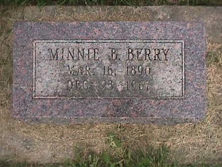 BERRY, MINNIE B - Henry County, Iowa | MINNIE B BERRY