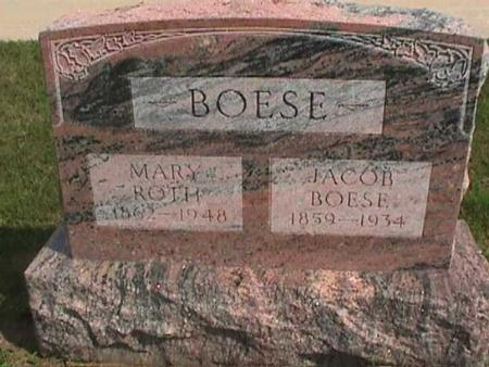 ROTH BOESE, MARY - Henry County, Iowa | MARY ROTH BOESE