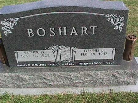 BOSHART, ESTHER D. - Henry County, Iowa | ESTHER D. BOSHART