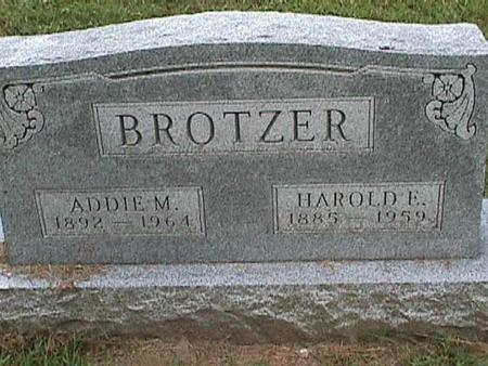 BROTZER, ADDIE M - Henry County, Iowa | ADDIE M BROTZER