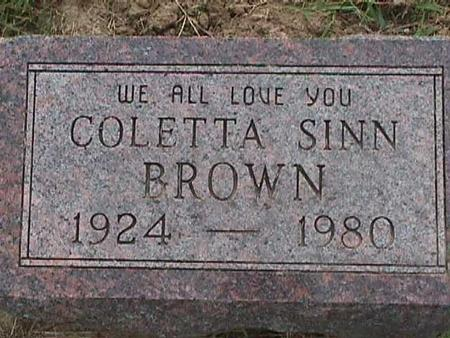 SINN BROWN, CORETTA - Henry County, Iowa | CORETTA SINN BROWN
