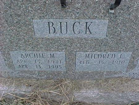 BUCK, MILDRED I - Henry County, Iowa | MILDRED I BUCK