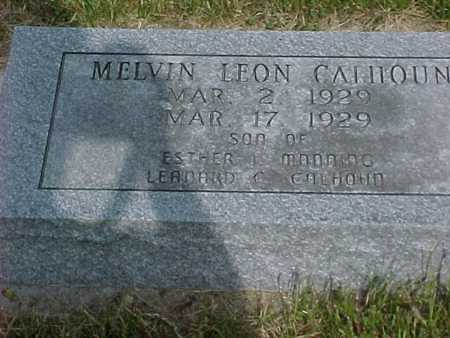 CALHOUN, MELVIN LEON - Henry County, Iowa | MELVIN LEON CALHOUN
