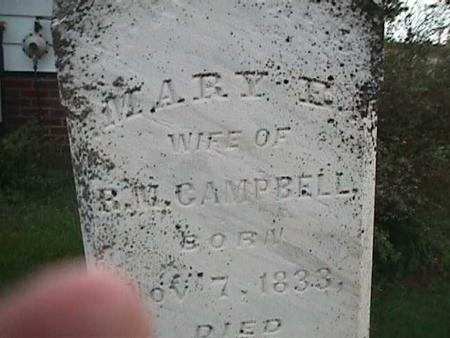 CAMPBELL, MARY - Henry County, Iowa | MARY CAMPBELL