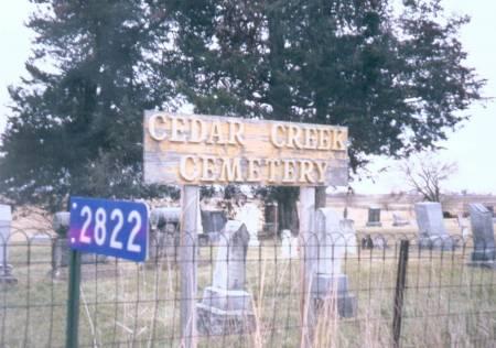 CEDAR CREEK, CEMETERY - Henry County, Iowa   CEMETERY CEDAR CREEK