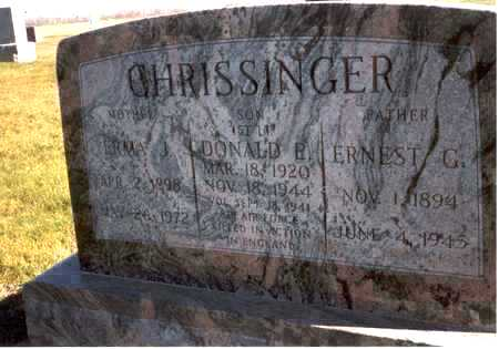 CHRISSINGER, ERNEST G. - Henry County, Iowa | ERNEST G. CHRISSINGER