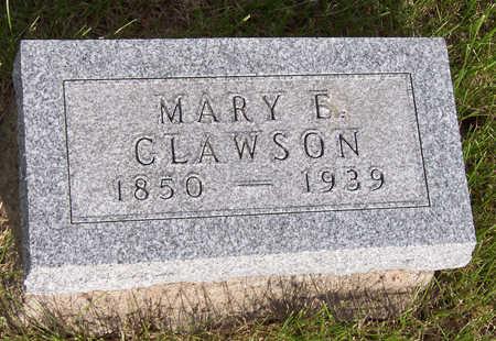 CLAWSON, MARY E. - Henry County, Iowa | MARY E. CLAWSON