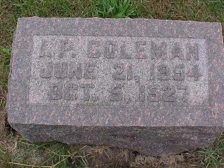 COLEMAN, K. P. - Henry County, Iowa | K. P. COLEMAN