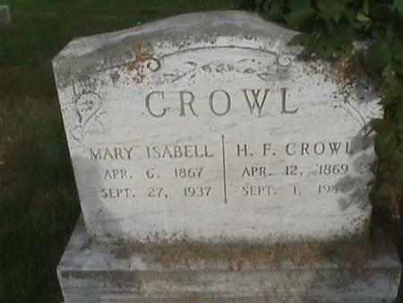 CROWL, H. F. - Henry County, Iowa | H. F. CROWL