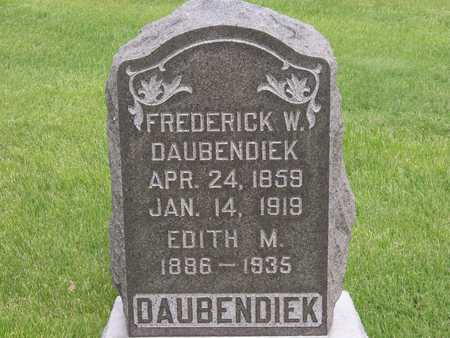 DAUBENDIEK, FREDERICK W. - Henry County, Iowa | FREDERICK W. DAUBENDIEK