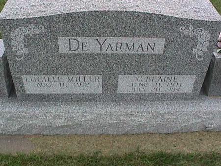 MILLER DE YARMAN, LUCILLE - Henry County, Iowa | LUCILLE MILLER DE YARMAN