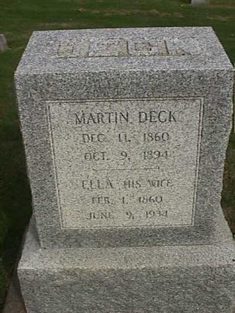 DECK, MARTIN - Henry County, Iowa | MARTIN DECK