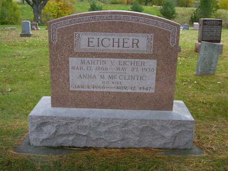 MCCLINTIC EICHER, ANNA M. - Henry County, Iowa | ANNA M. MCCLINTIC EICHER