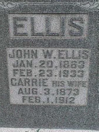 ELLIS, JOHN W - Henry County, Iowa | JOHN W ELLIS