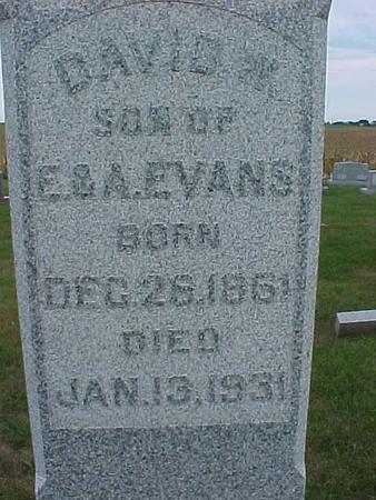 EVANS, DAVID - Henry County, Iowa | DAVID EVANS