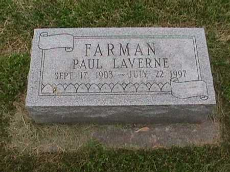 FARMAN, PAUL LAVERNE - Henry County, Iowa | PAUL LAVERNE FARMAN