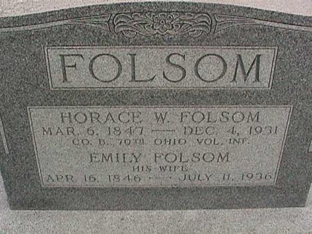 FOLSOM, HORACE - Henry County, Iowa | HORACE FOLSOM