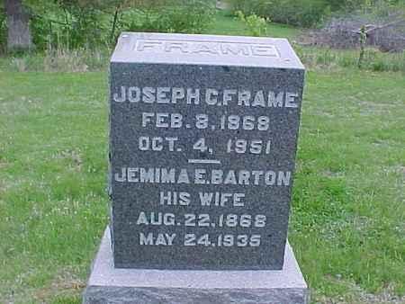 BARTON FRAME, JEMIMA - Henry County, Iowa | JEMIMA BARTON FRAME