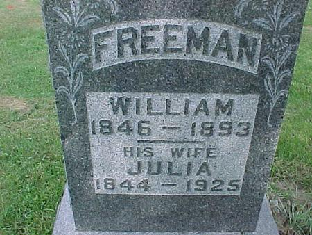 FREEMAN, WILLIAM - Henry County, Iowa | WILLIAM FREEMAN