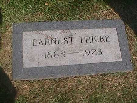 FRICKE, EARNEST - Henry County, Iowa | EARNEST FRICKE