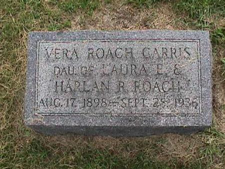 ROACH GARRIS, VERA - Henry County, Iowa | VERA ROACH GARRIS