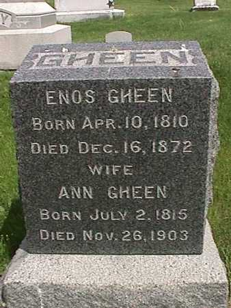 GHEEN, ENOS - Henry County, Iowa | ENOS GHEEN