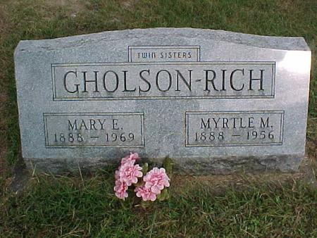 GHOLSON, MARY E - Henry County, Iowa | MARY E GHOLSON