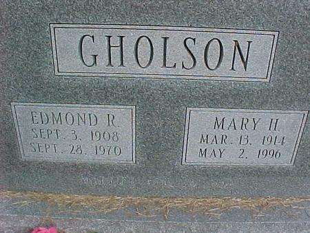 GHOLSON, MARY H - Henry County, Iowa | MARY H GHOLSON