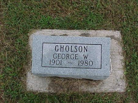 GHOLSON, GEORGE - Henry County, Iowa | GEORGE GHOLSON