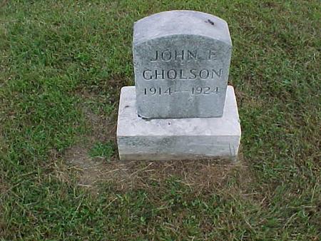 GHOLSON, JOHN - Henry County, Iowa | JOHN GHOLSON