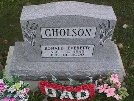 GHOLSON, RONALD EVERETTE - Henry County, Iowa   RONALD EVERETTE GHOLSON
